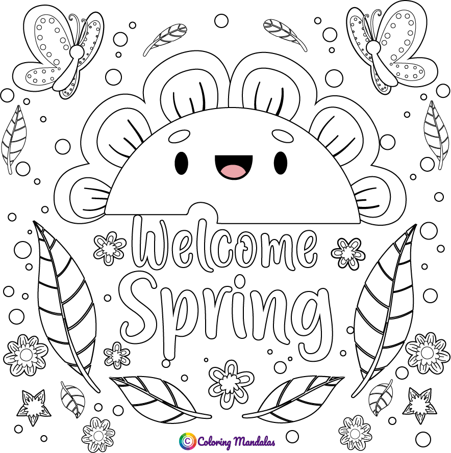 Spring Coloring Page For Kids Coloring Pages For Kids